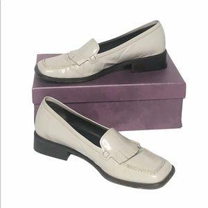 Vintage Prada light gray/off white Tassel Loafers